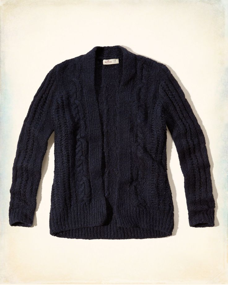 Hollister CABLE OPEN SWEATER