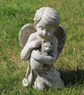 Cat Headstones And Memorials   Cat Angel Pet Memorial Stone Grave Marker  Headstone 099278173479