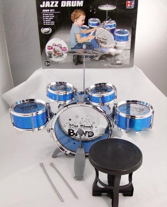 Классическая джаз барабан детские игрушки ударная установка детские музыкальные игрушки для детей развивающие игрушки Instrumento Musicais детям ударная установка девушок ребенка купить на AliExpress