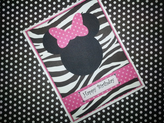 Handmade Minnie Mouse Birthday Card By Itspolkaspotted On Etsy