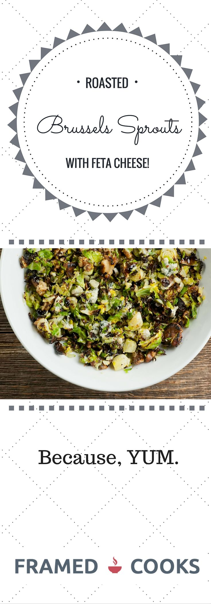 This recipe for roasted chopped Brussels sprouts with feta cheese and walnuts is GUARANTEED to make a Brussels sprouts lover out of anyone!
