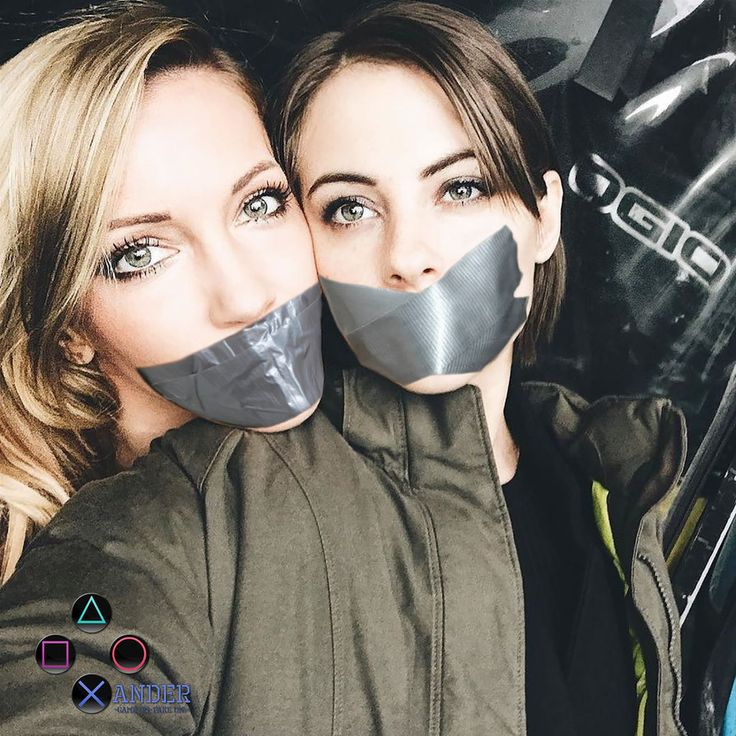 Katie Cassidy and Willa Holland Duct Tape Gagged by Xander896