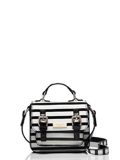 scout bag, black/cream stripe