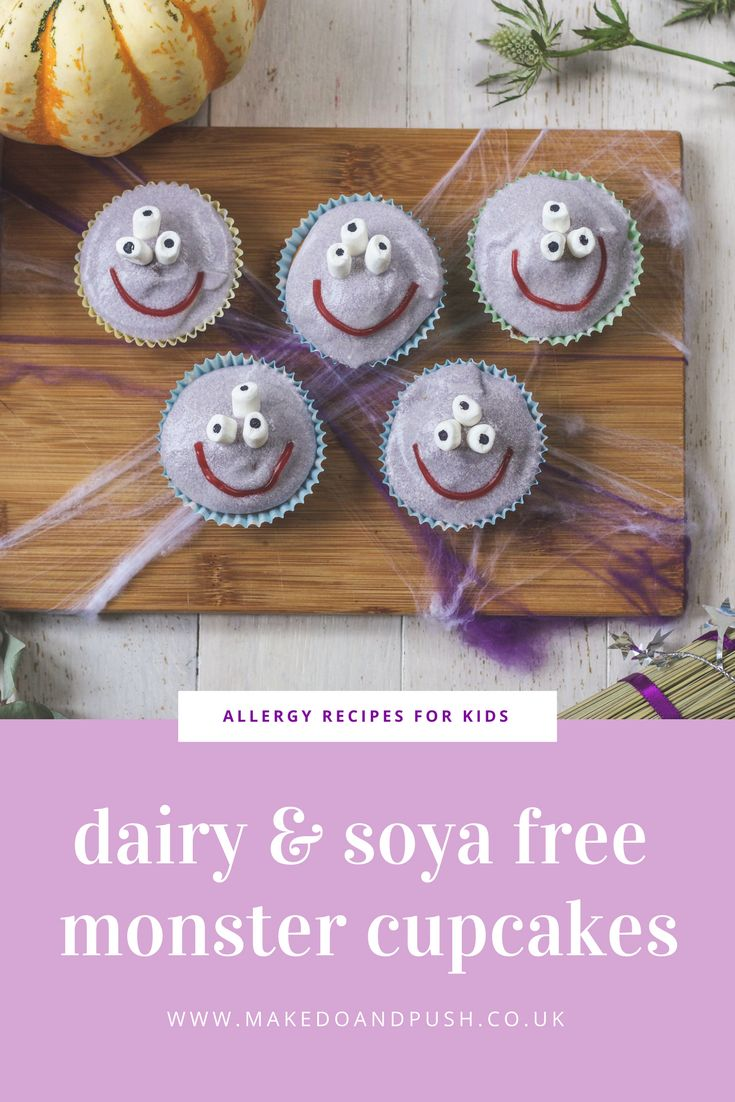 We've been doing some spooky Halloween baking on the blog today. Find out how to make these fab Dairy and Soya Free Monster Cupcakes.