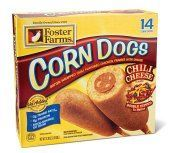 These plump and juicy chili cheese- flavored corn dogs heat up in just minutes for a quick snack or easy meal. Description from fosterfarms.com. I searched for this on bing.com/images