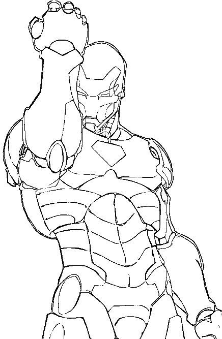 The Iron Man Drains Energy Coloring For Kids - Super Hero Coloring Pages : KidsDrawing – Free Coloring Pages Online: