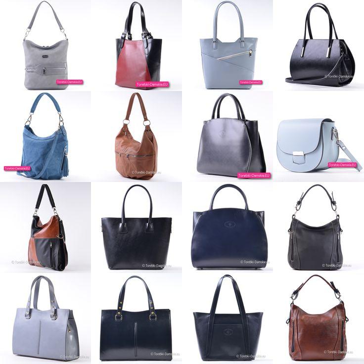 Eleganckie torebki damskie ze skóry naturalnej w wielu kolorach i fasonach - kilkaset propozycji w naszym katalogu pod adresem http://torebki-damskie.eu/22-skorzane