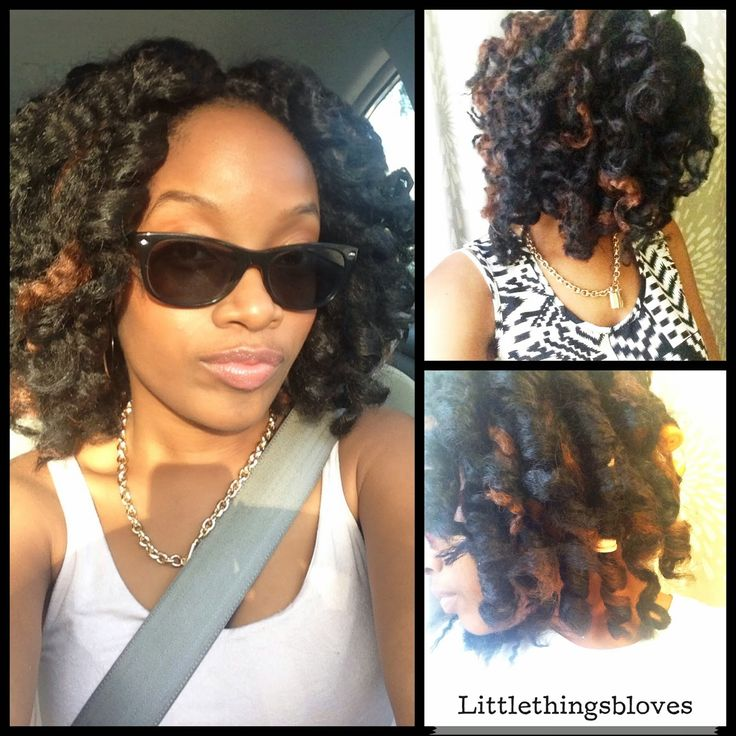 Protective Styling for Natural African American Hair: Crochet Braids using Vanessa Marley Braid Hair in color 2 & 2/30. Kinky, curly, & Thick synthetic hair. Check out my blog for more pictures