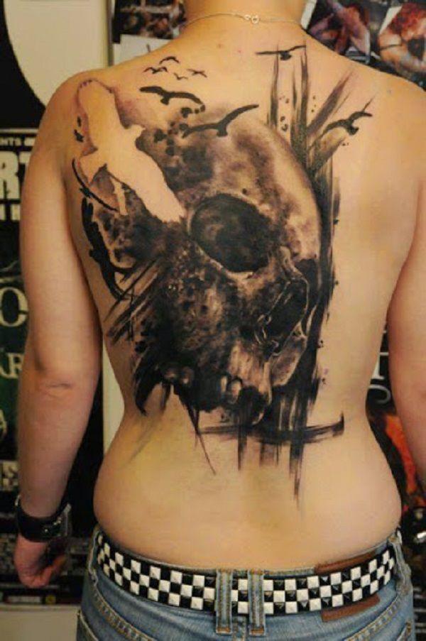 Skull Tattoos 61 - 80 Frightening and Meaningful Skull Tattoos   <3