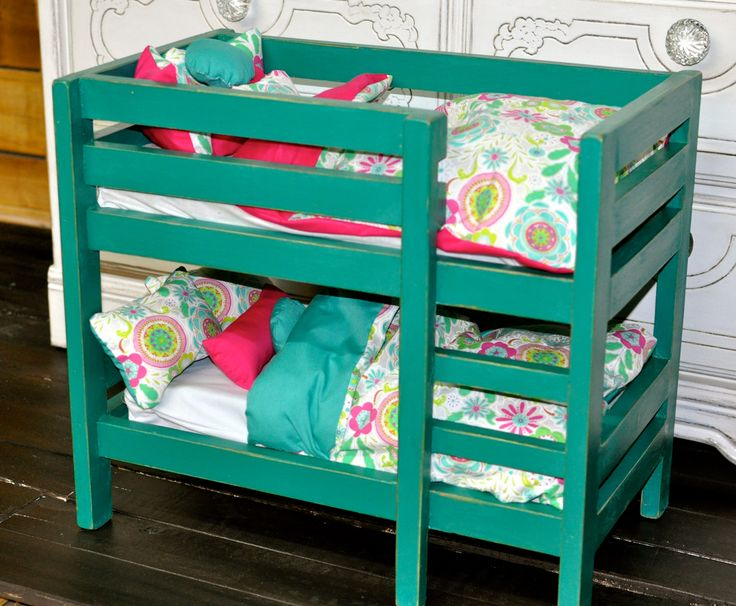 Ana White | American Girl Doll Bunk Beds - DIY Projects