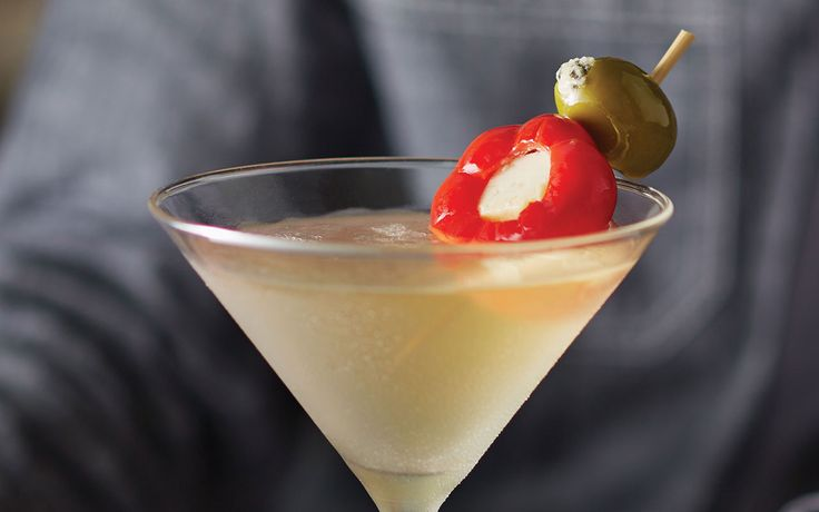 Ultimate Infused Dirty Martini-   Ketel One Citroen vodka infused with olives for 3 full days. Served ice cold in a frozen martini glass. The best damn dirty martini ever