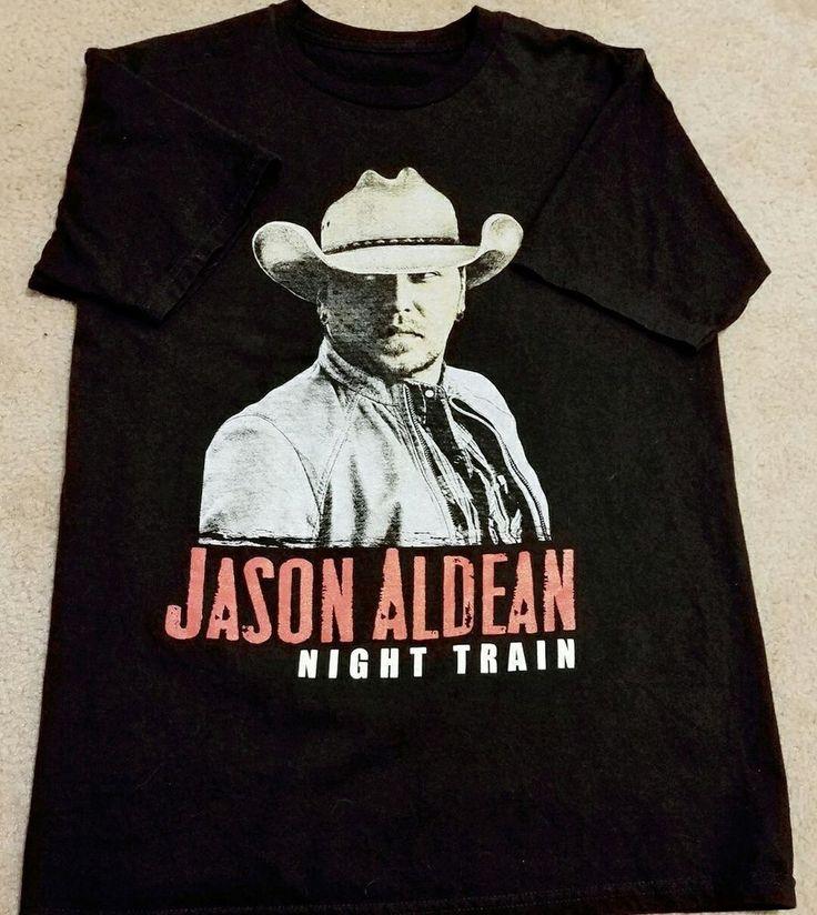 JASON ALDEAN night train concert shirt mens short sleeve pullover tour tee black