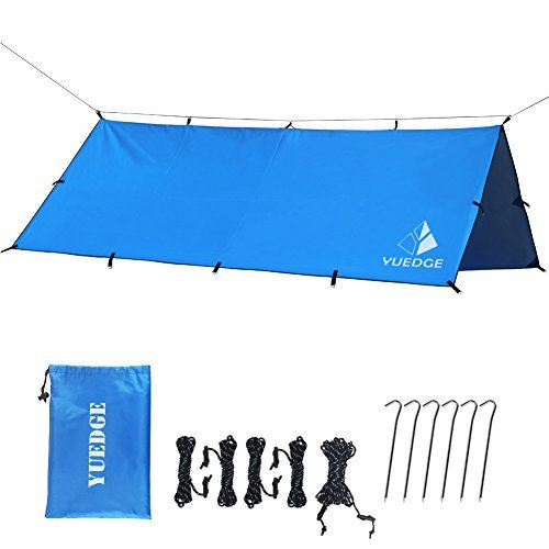 YUEDGE 10x10ft Multi-function Waterproof Camping Backpacking Tarp Shelter RipStop Rainfly Snow Cover Hammock Tarp Rain Fly Tent Tarp. For product & price info go to:  https://all4hiking.com/products/yuedge-10x10ft-multi-function-waterproof-camping-backpacking-tarp-shelter-ripstop-rainfly-snow-cover-hammock-tarp-rain-fly-tent-tarp/