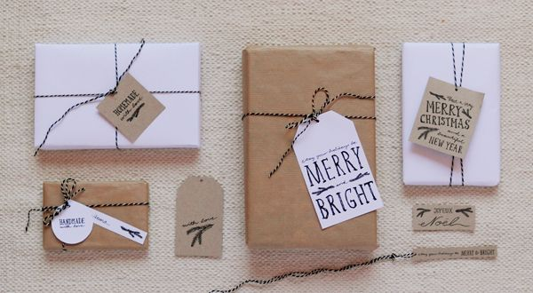 hand-drawn gift tag