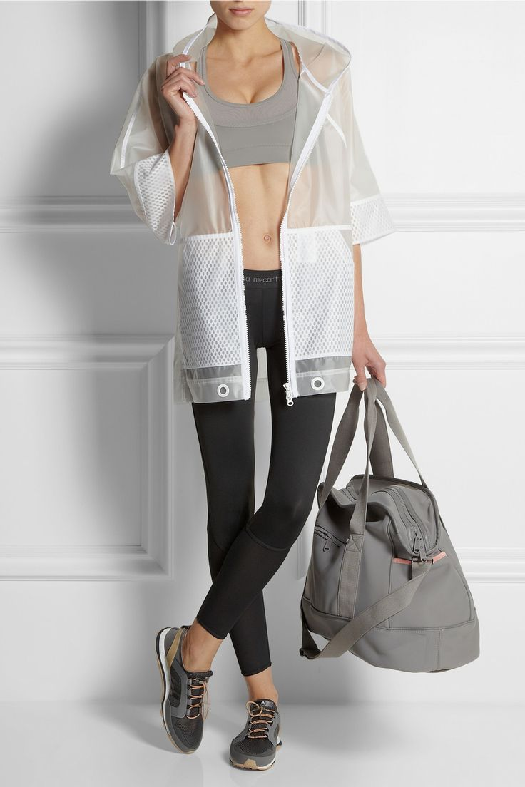 Adidas by Stella McCartney|Run Climalite® mesh-paneled sports bra|NET-A-PORTER.COM