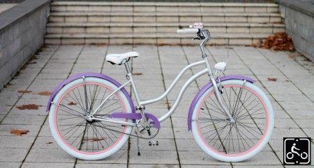 Egyedi Agyváltós Női Cruiser Kerékpár 3sp - Ezüst-Lila