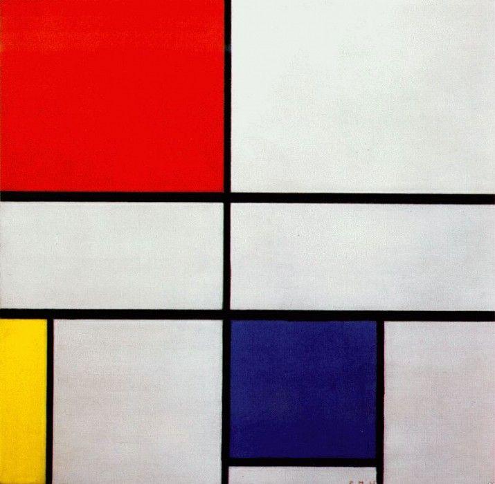 Композиция в красном, желтом и синем цветах, 1935. Пит Мондриан