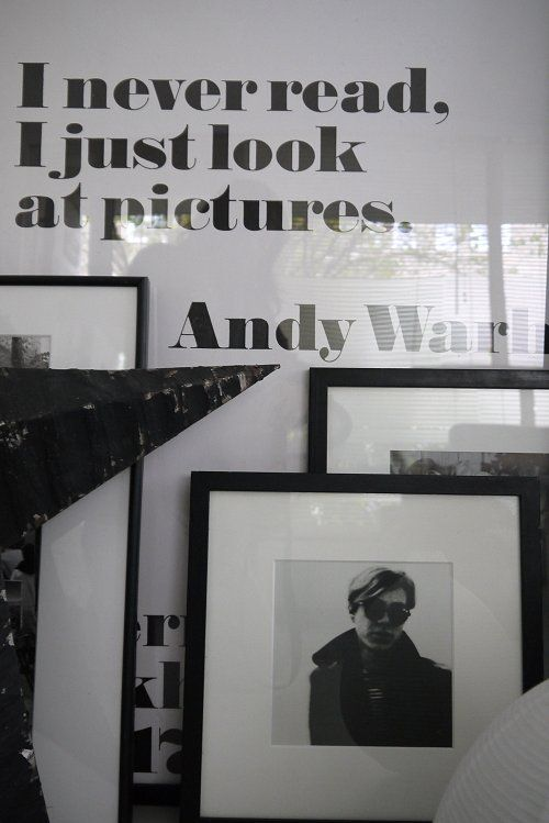 """I never read, I just look at pictures."" - Andy Warhol"