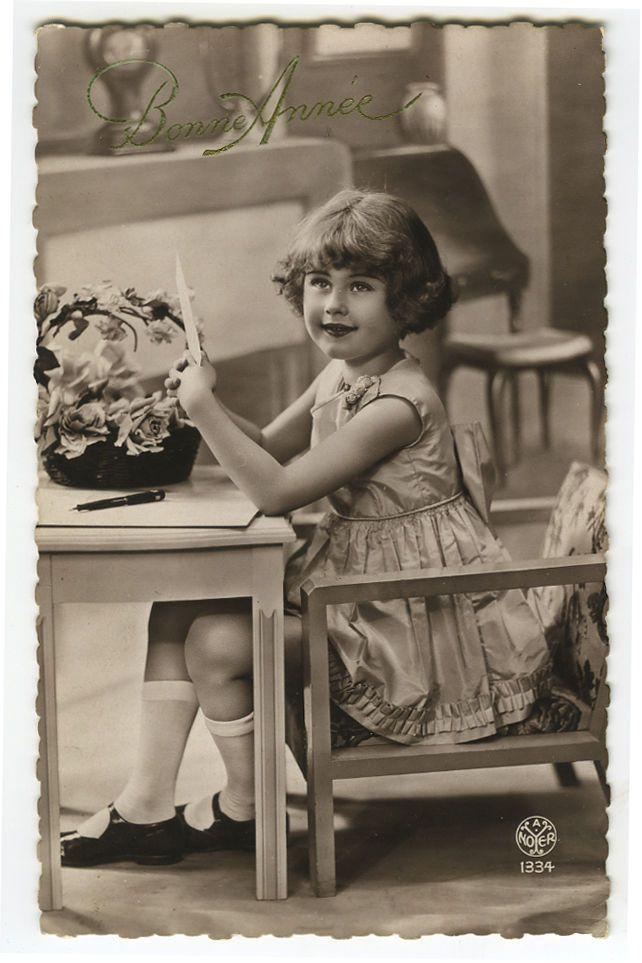 1930s ребенок дети милая маленькая девочка французский виртуал открытка | eBay