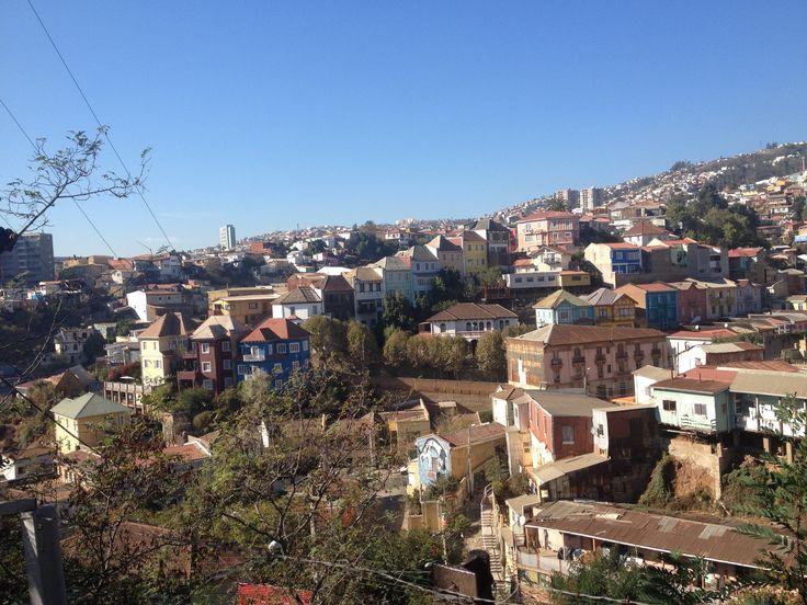 overlooking the hills of Valparaiso