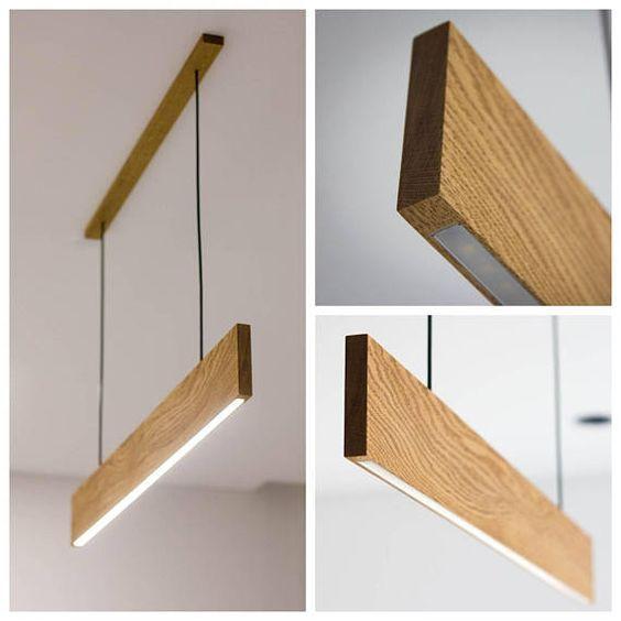 Modern LED Pendant Light – Wooden Lamp