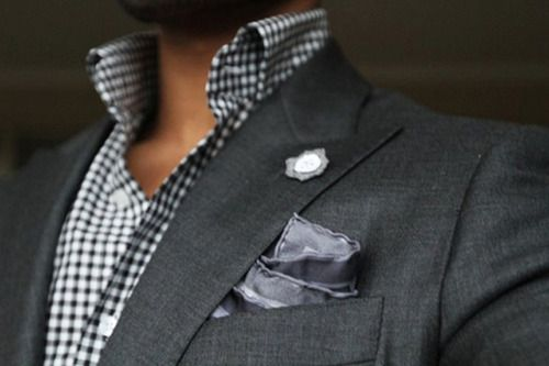 The Lapel pin. something you don't see very oft.