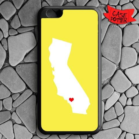 Yellow State Heart iPhone 6 Plus iPhone 6S Plus Black Case
