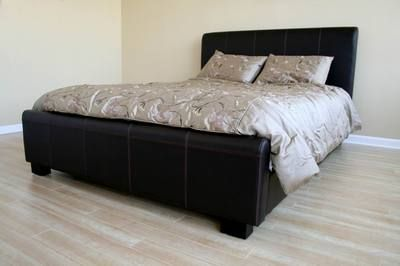 Discount Platform Beds on Queen Leather Bed Frame    Bed Frames    Discount Beds Only