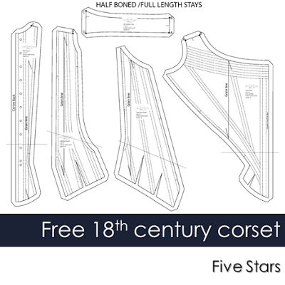 Free 18th Century Corset Pattern and Review