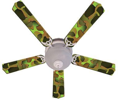 Crazy Camo Ceiling Fan 52