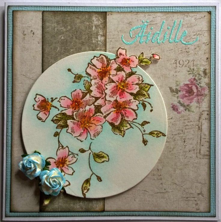 Äidille, kukkia, Stampendous