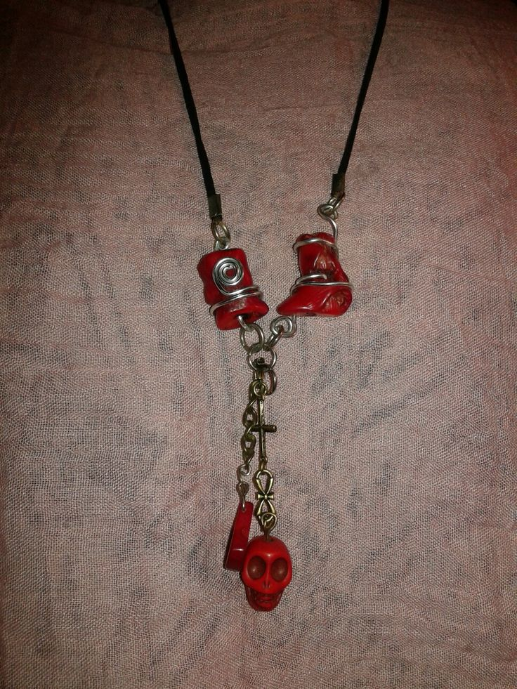 Necklace red coral by Anca
