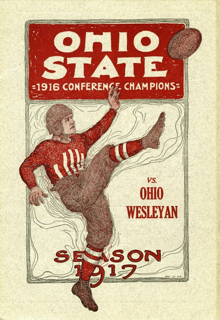 385 best ohio state buckeyes football images on pinterest ohio ohio state vs ohio wesleyan official program 1917 amipublicfo Image collections