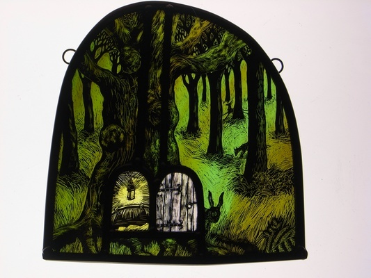 Enchanted Wood - stained glass by Tamsin Abbott