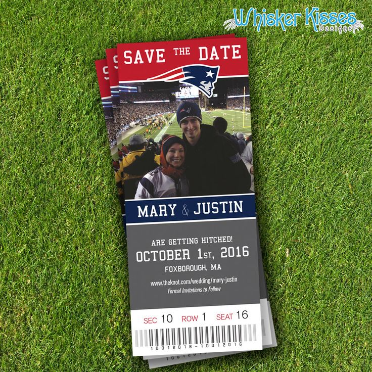 Sports Save-The-Date, Save-The-Date-Magnet, Save The Date Ticket, Custom Sports Ticket, Save the Date Sports Event Ticket -DEPOSIT by WhiskerKissesDesigns on Etsy https://www.etsy.com/listing/242301257/sports-save-the-date-save-the-date