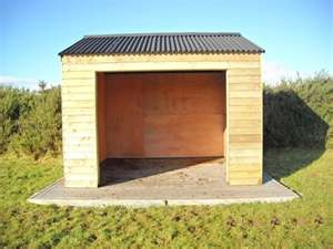 Simple shelter. Easy to clean (key!). I would add a door.