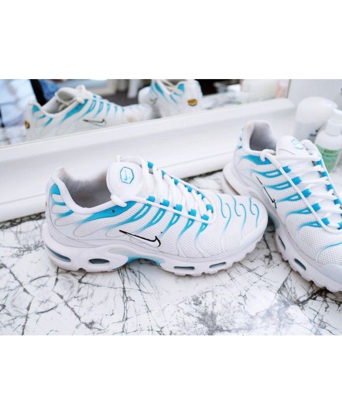 13f060f5d8 Nike Air Max Tn White Blue Fury | Shoes in 2019 | Nike air max, Nike ...
