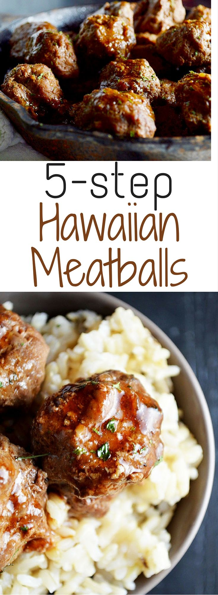 These meatballs are seriously amazing. Hawaiian Meatballs for the win!