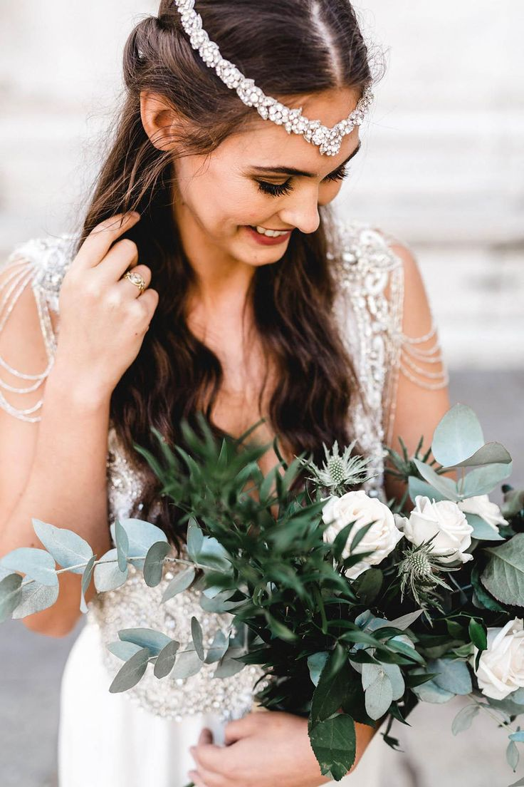 Hair accessories melbourne - Anna Campbell Bridal Hand Embellished Summer Headpiece Worn With The Sierra Dress Vintage