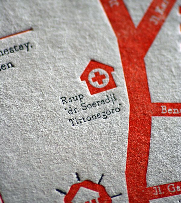 Map, wedding invitation