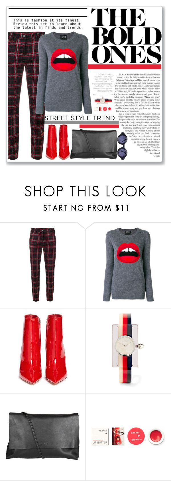 """Plaid Friday"" by crblackflag ❤ liked on Polyvore featuring Cambio, Markus Lupfer, Gianvito Rossi, Gucci, Arlington Milne, Korres, Chanel, plaid and redboots"