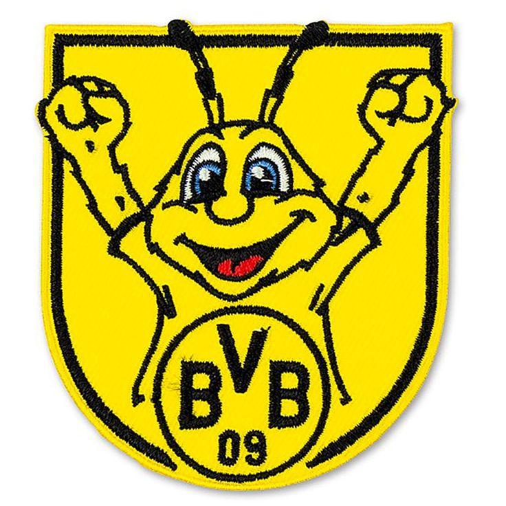 BVB Borussia Dortmund Aufnäher Aufbügler BVB Maskottchen Emma Neu in Sport, Fußball, Fußball-Fanshop | eBay