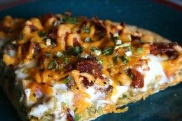 The Broads' and the Bonn's White Trash Breakfast Pizza