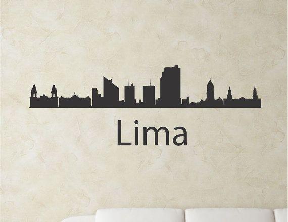 SlapArtLima Peru city skyline Vinyl Wall Art by VinylMasterpieces $15.99