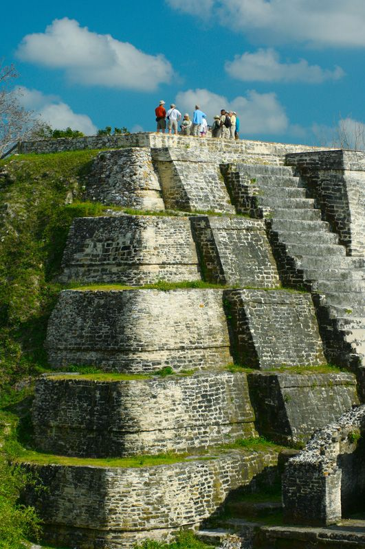 # Altun Ha in Belize existed by at least 200 BC, perhaps even several centuries earlier, and flourished until the mysterious collapse of Classic Maya civilization around AD 900. Most of the temples date from around AD 550 to 650, though, like many Maya temples, most of them are composed of several layers, having been built over periodically in a series of renewals.