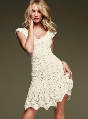 Crochet Dress - Victoria\'s Secret  #My Fall Edit #Victoria's Secret #VS