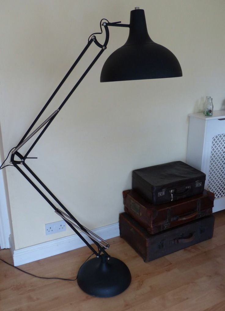 Vintage industrial planet anglepoise style floor standard lamp vintage industrial planet anglepoise style floor standard lamp black white vintage retro lighting lights pinterest planets aloadofball Image collections