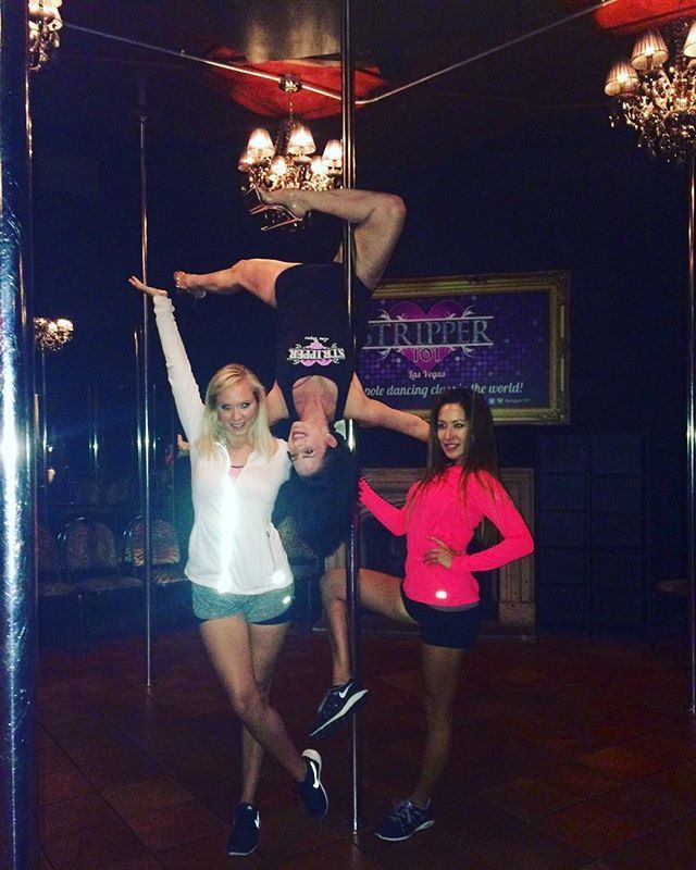 Our instructors are real #LasVegas strippers, so these moves are the best in the business!  Learn a thing or two from the pros | Book your private class now at www.Stripper101.com   #Stripper101 #GirlPower #Pole