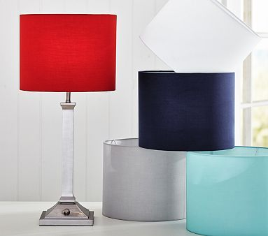 Devin Shade paired with the Mason Push Button Lamp in Brushed Bronze