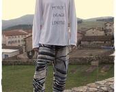 """Sarouel homme en lin bleu """"camouflage urbain"""" : Jeans, pantalons par khouture"""